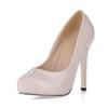Round Toe Pumps/Heels Women's Narrow Opalescent Lacquers Wedding Stiletto Heel
