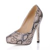 PU Platforms Pumps/Heels Women's Stiletto Heel Narrow Dress