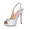 Stiletto Heel Wedding Shoes Sequined Cloth/Sparkling Glitter Open Toe Women's Narrow Sparkling Glitter