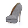 Extra Wide Pumps/Heels Stiletto Heel Women's Sparkling Glitter Closed Toe Sequined Cloth/Sparkling Glitter