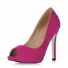 Wedding Pumps/Heels Narrow Stiletto Heel Flock Pumps/Heels Girls'
