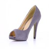 Daily Platforms Women's Peep Toe Average Stiletto Heel Stretch Velvet
