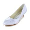 Women's Pumps/Heels Satin Closed Toe Ruched Graduation Low Heel