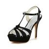 Open Toe Sandals Satin Honeymoon Stiletto Heel Girls'