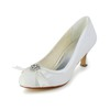 Graduation Wedding Shoes Sequined Cloth/Sparkling Glitter Comfort Kitten Heel Bowknot Women's
