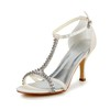 Girls' Sandals Kitten Heel Satin Rhinestone Round Toe Party & Evening