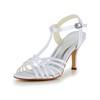 Girls' Wedding Shoes Satin Casual Open Toe Kitten Heel