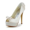 Girls' Wedding Shoes Stiletto Heel Round Toe Ribbon Tie Satin Party & Evening