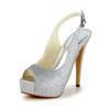 Graduation Platforms Women's Peep Toe Sequined Cloth/Sparkling Glitter Stiletto Heel Sparkling Glitter