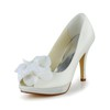 Peep Toe Pumps/Heels Girls' Satin Stiletto Heel Office & Career Flower