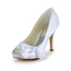 Sandals Wedding Shoes Dress Stiletto Heel Satin Bowknot Girls'