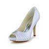 Open Toe Platforms Daily Girls' Stiletto Heel Satin Ruched