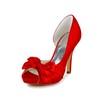 Women's Platforms Stiletto Heel Wedding Satin Ruched Pumps/Heels