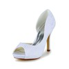Stiletto Heel Wedding Shoes Dress Satin Pumps/Heels Women's Lace