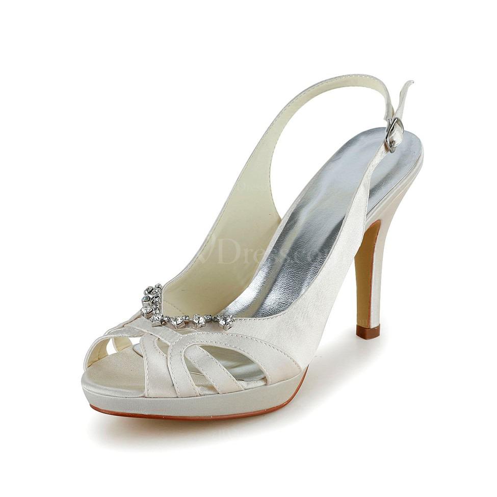 cream girls 39 wedding shoes satin peep toe graduation. Black Bedroom Furniture Sets. Home Design Ideas