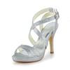 Casual Platforms Women's Stiletto Heel Round Toe Sequined Cloth/Sparkling Glitter Sparkling Glitter