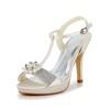 Women's Sandals Pumps/Heels Stiletto Heel Graduation Buckle Satin