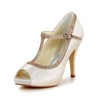 Party & Evening Platforms Satin Round Toe Stiletto Heel Split Joint Girls'