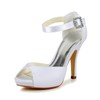 Casual Pumps/Heels Satin Women's Stiletto Heel Buckle D'Orsay & Two-Piece