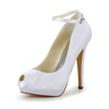 Open Toe Wedding Shoes Satin Stiletto Heel Dance Girls'