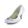 Wedding Wedding Shoes Kitten Heel Girls' Satin Ruched Pumps/Heels