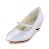 Graduation Wedding Shoes Girls' Low Heel Comfort Satin Buckle
