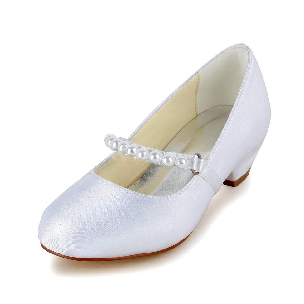 cream graduation wedding shoes girls 39 low heel comfort. Black Bedroom Furniture Sets. Home Design Ideas