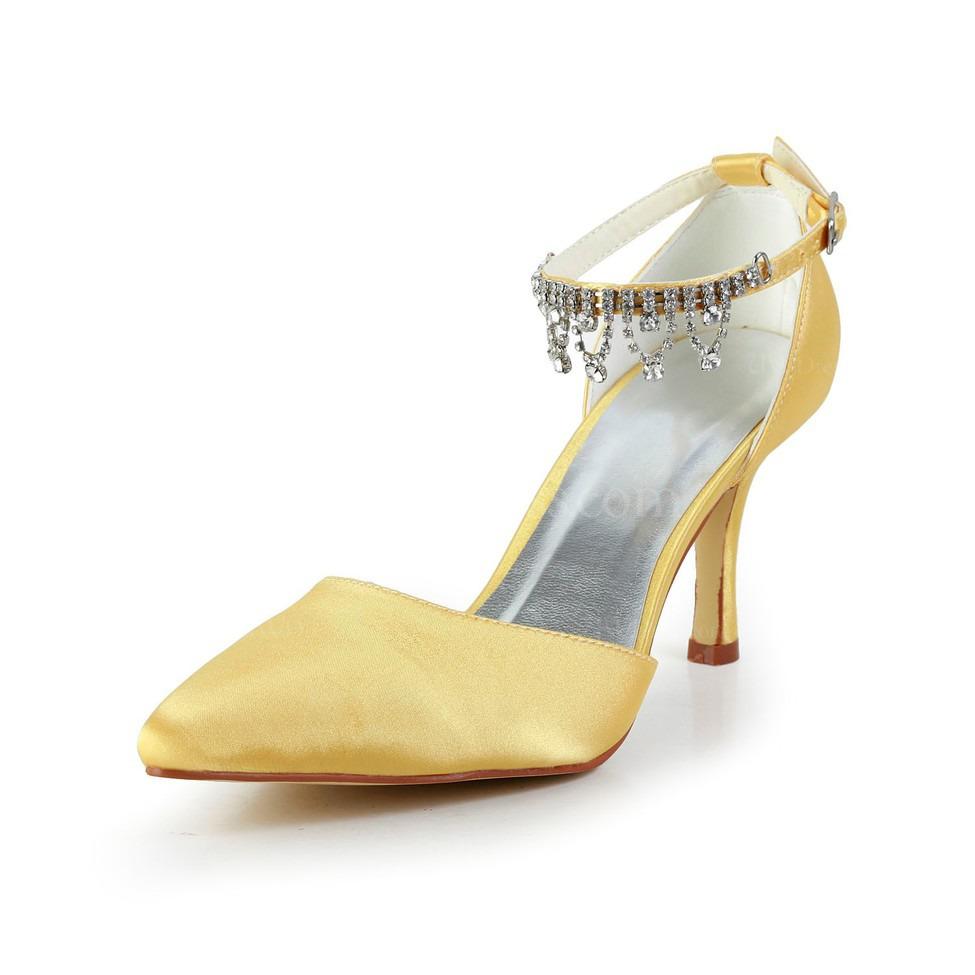 Satin Kitten Heel Shoes