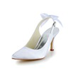 Satin Wedding Shoes Kitten Heel Rhinestone Slingbacks Girls' Party & Evening