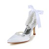 Kitten Heel Pumps/Heels Girls' Satin Imitation Pearl Closed Toe Honeymoon