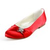 Rhinestone Flats Average Girls' Party & Evening Round Toe Satin