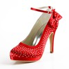 Rhinestone Wedding Shoes Satin Girls' Pumps/Heels Dress Stiletto Heel