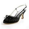 Girls' Sandals Slingbacks Satin Spool Heel Average Graduation