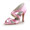 Kitten Heel Wedding Shoes Girls' Dress Sandals Average Satin
