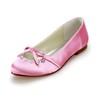 Closed Toe Wedding Shoes Flower Wedding Average Satin Low Heel