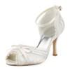 Girls' Dance Shoes Peep Toe Dance Silk Like Satin Bowknot Kitten Heel