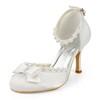 Silk Like Satin Dance Shoes Kitten Heel Pumps/Heels Daily Bowknot Women's