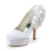 Pumps/Heels Pumps/Heels Silk Like Satin Kitten Heel Daily Women's Flower