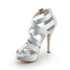 Girls' Wedding Shoes Graduation Open Toe Stiletto Heel Silk Like Satin
