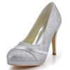 Round Toe Wedding Shoes Wedding Sequined Cloth/Sparkling Glitter Stiletto Heel Girls' Sparkling Glitter