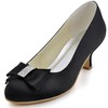 Party & Evening Pumps/Heels Bowknot Girls' Silk Like Satin Low Heel Closed Toe