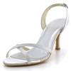 Girls' Wedding Shoes Silk Like Satin Open Toe Kitten Heel Honeymoon