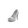 Girls' Pumps/Heels Rhinestone Stiletto Heel Open Toe Silk Like Satin Honeymoon