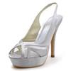 Silk Like Satin Platforms Stiletto Heel Party & Evening Slingbacks Women's