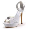 Stiletto Heel Sandals Sandals Dress Silk Like Satin Rhinestone Women's