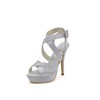 Sandals Sandals Stiletto Heel Buckle Silk Like Satin Girls' Wedding