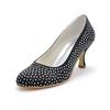 Pumps/Heels Wedding Shoes Kitten Heel Rhinestone Wedding Silk Like Satin Girls'