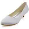 Silk Like Satin Wedding Shoes Girls' Low Heel Office & Career Round Toe