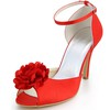 Buckle Wedding Shoes Stiletto Heel Silk Like Satin Dress Pumps/Heels Girls'