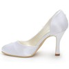 Applique Wedding Shoes Kitten Heel Silk Like Satin Girls' Closed Toe Dress